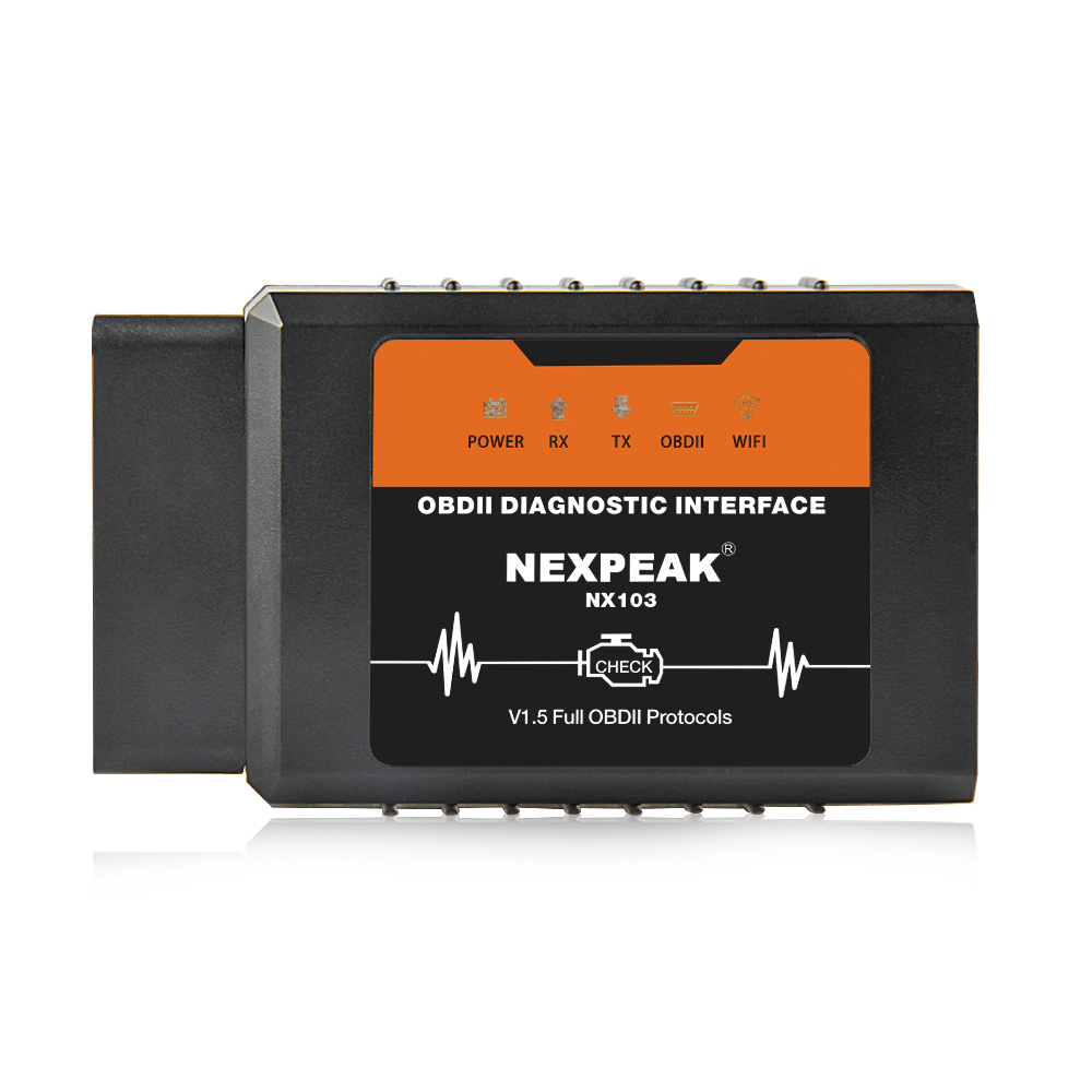 NEXPEAK NX103 WIFI OBDII Scanner for IOS iPhone and Android Windows -  ELM327 V1.5